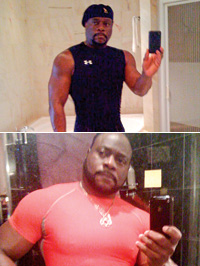 Bishop Eddie Long takes photos of himself in his bathroom