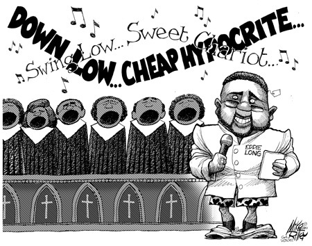 Cartoonist Mike Ritter takes on the Bishop Eddie Long scandal