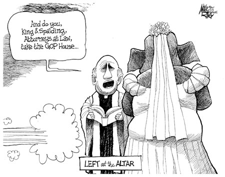 Cartoonist Mike Ritter takes on the King and Spalding DOMA drama