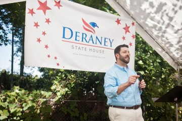 Christoper Deraney campaign event - photo by Jimmy Johnston