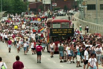 The 25th anniversary Atlanta Pride Parade. Atlanta Journal-Constitution Photographic Archives. Special Collections and Archives, Georgia State University Library.