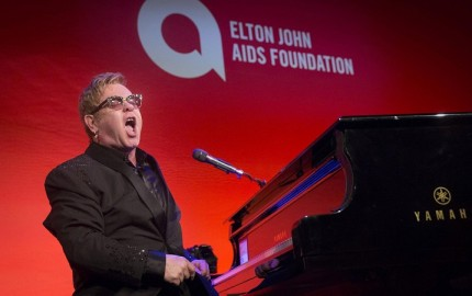 Sir Elton John performs at the Elton John AIDS Foundation's 13th annual An Enduring Vision Benefit in New York
