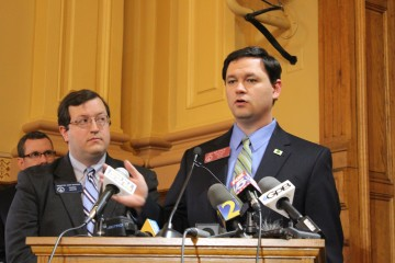State Sen. Josh McKoon (left) and Rep. Sam Teasley (right). (File photo)