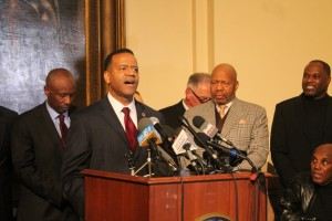 Kelvin Cochran at a rally at the Capitol organized by evangelical leaders. (file photo)
