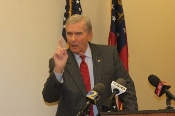 "Former Republican Georgia Attorney General Mike Bowers called the bills an ""excuse to discriminate"" in a Tuesday press conference. (File photo)"