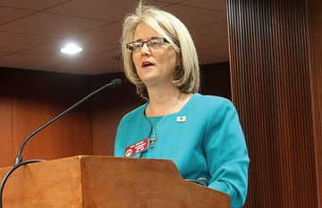 Lesbian state Rep. Karla Drenner still has hopes for her Fair Employment Practices Act. (File photo)