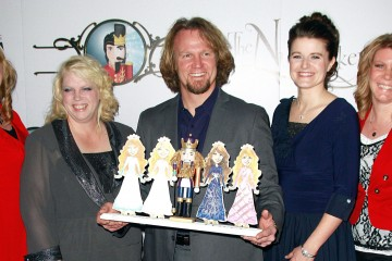 "LAS VEGAS, NV - DECEMBER 15:  Cast of TLC's ""Sister Wives"" Christine Brown, Janelle Brown, Kody Brown, Robyn Brown  and Meri Brown attend the Nevada Ballet Theatre's Production of ""The Nutcracker"" opening night performance at the Smith Center on December 15, 2012 in Las Vegas, Nevada.  (Photo by Marcel Thomas/FilmMagic)"