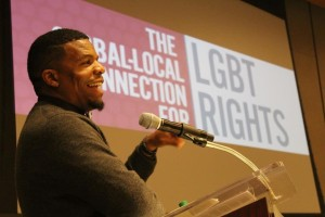 Tim'm T. West, author, activist, poet, and Programming Board Memeber, LGBT Institute