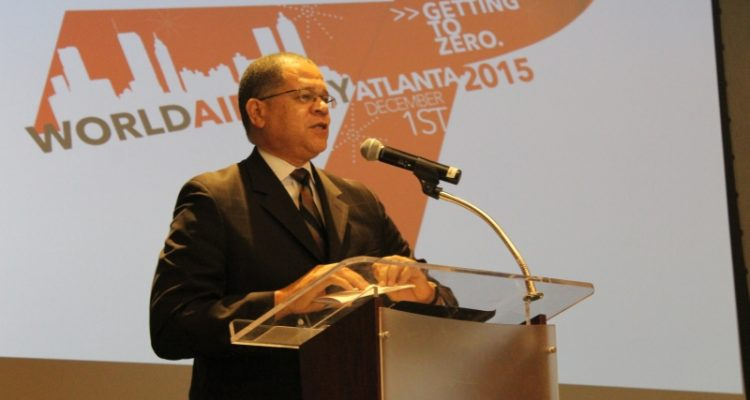 Fulton County Commission Chairman John Eaves on World AIDS Day last December. (File photo)